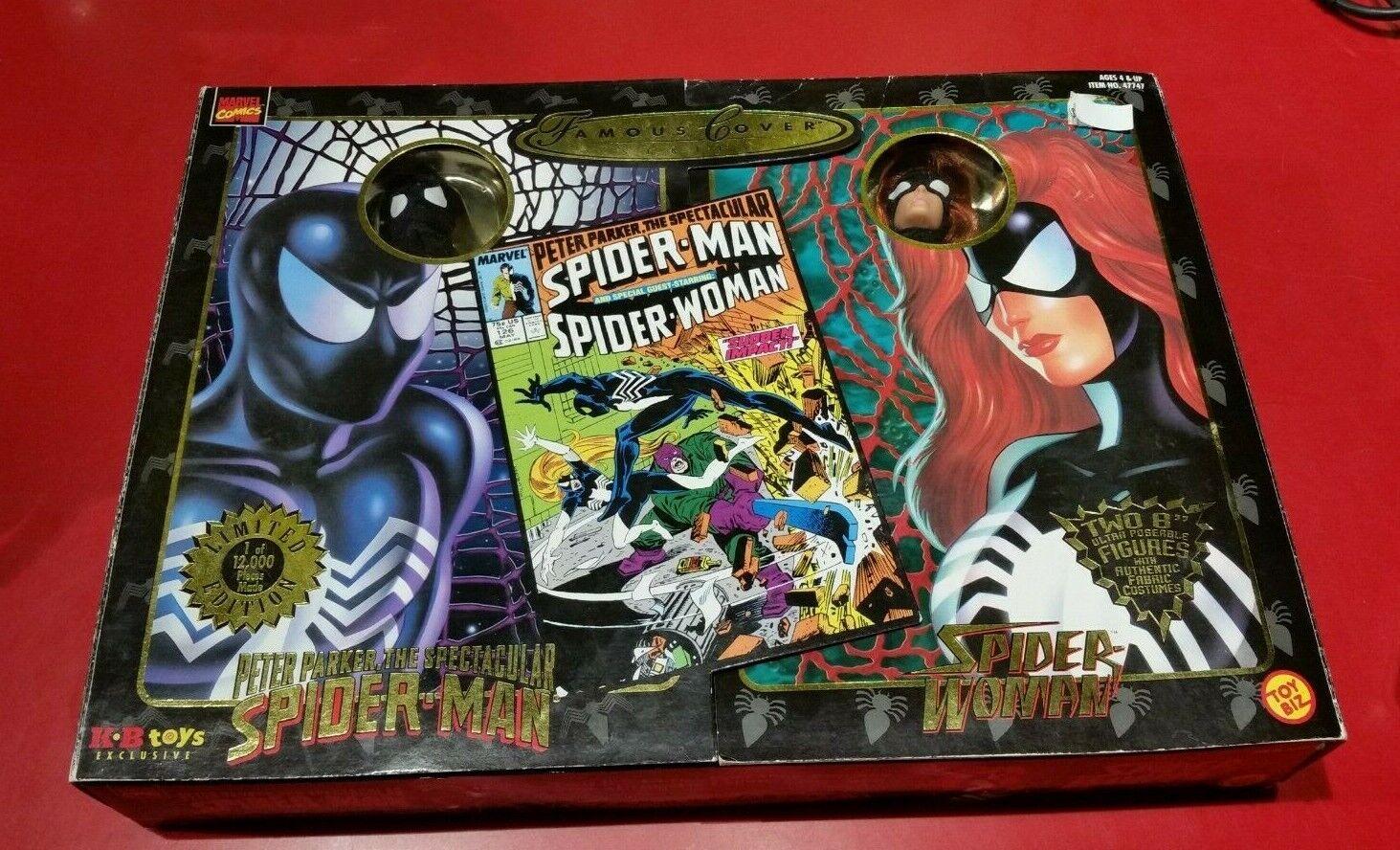 Cubierta Marvel famosa serie-Spiderman & Mujer Araña 2 Paquete De Figuras De Acción