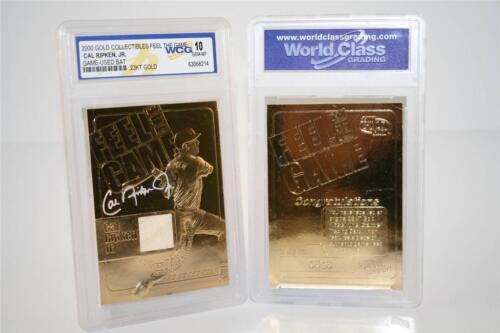 CAL RIPKEN JR 2000 Feel the Game Game Used Bat 23KT Gold Card GEM MINT 10 *BOGO*