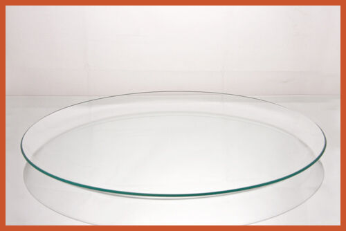 """16/"""" Round Clear /""""BENT/"""" Glass Plate  1//8"""