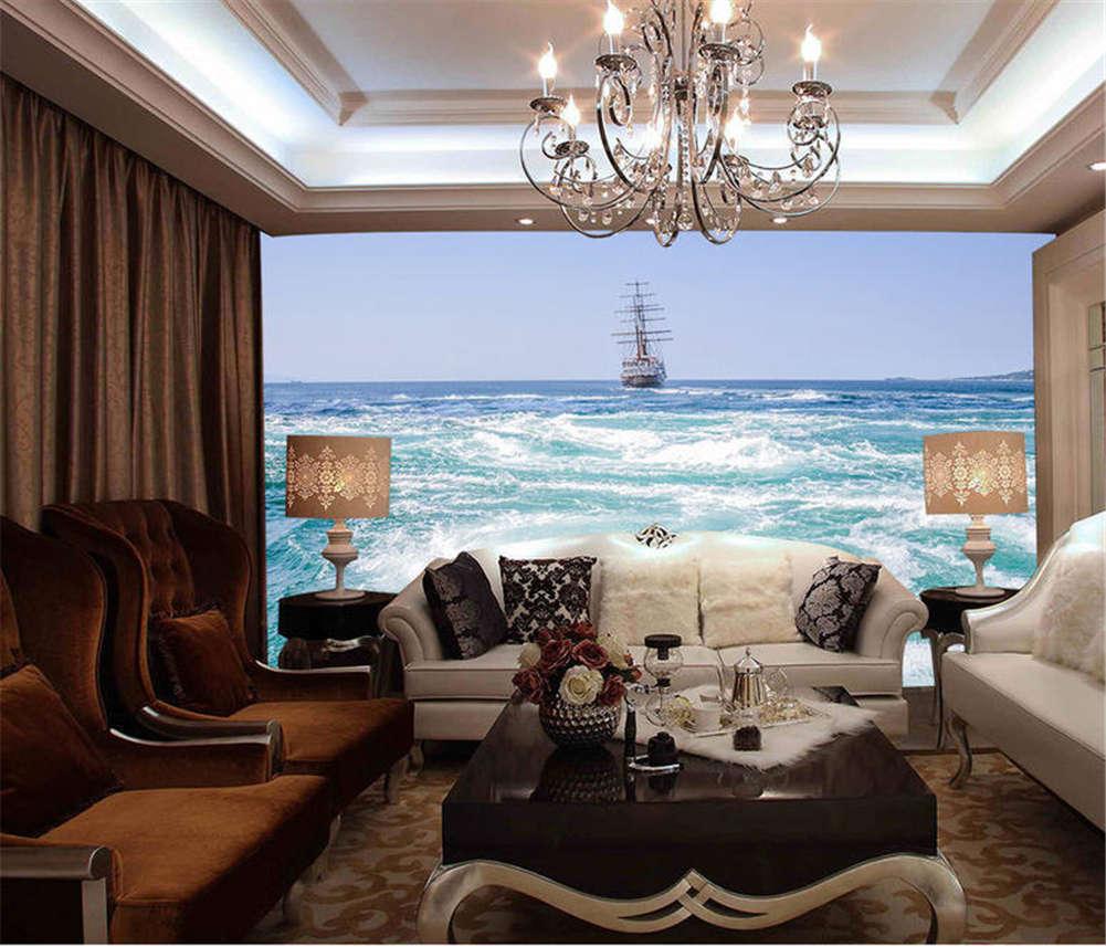 Critical Vast Sea 3D Full Wall Mural Photo Wallpaper Printing Home Kids Decor