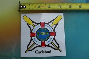c5de684226c4 Image is loading Junior-State-Lifeguard-Carlsbad -California-Clear-Window-Vintage-