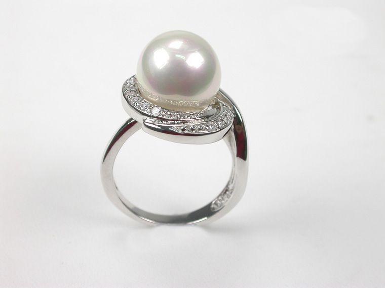 925 silver Orquidea Ring mit Mallorca-Perlen, Gr. 54-60 Urlaubstipp (61204)