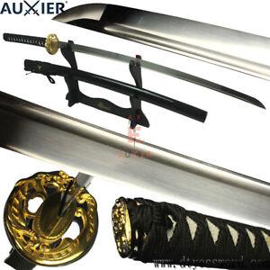 AUXIER-Full-Tang-Japanese-Samurai-Katana-Sword-1060-Carbon-Steel-Blade-Sharp