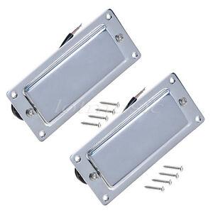 2pcs Chrome Belcat Guitar Mini Humbucker Pickups Set For Guitar Parts