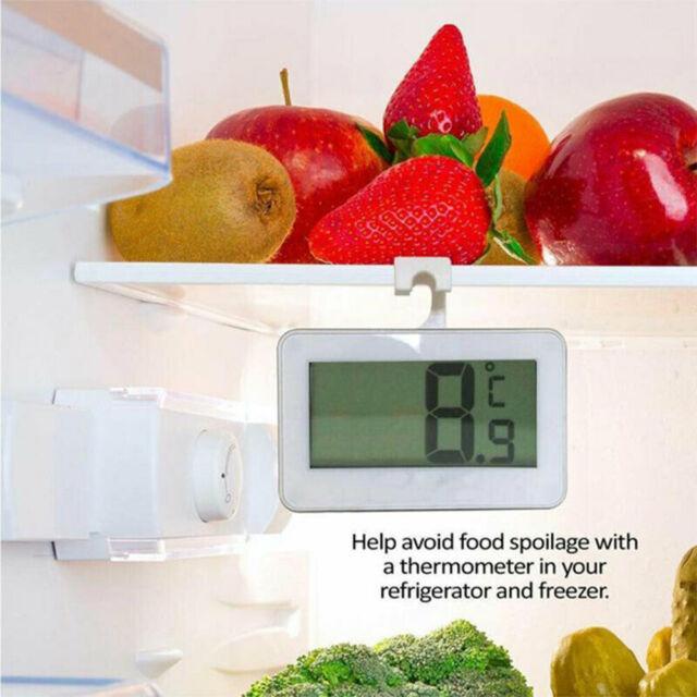 LCD Display Fridge Refrigerator Freezer Digital Thermometer Frost Alarm\