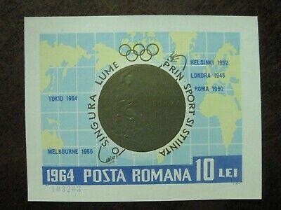Ehrlichkeit Rumänien Mi.-nr Block 59 Olympische Medaillen Postfrisch Zu Hohes Ansehen Zu Hause Und Im Ausland GenießEn