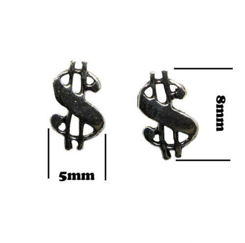 Dollar sterling silver stud earrings Boucle d/'oreille puce dollar argent 925