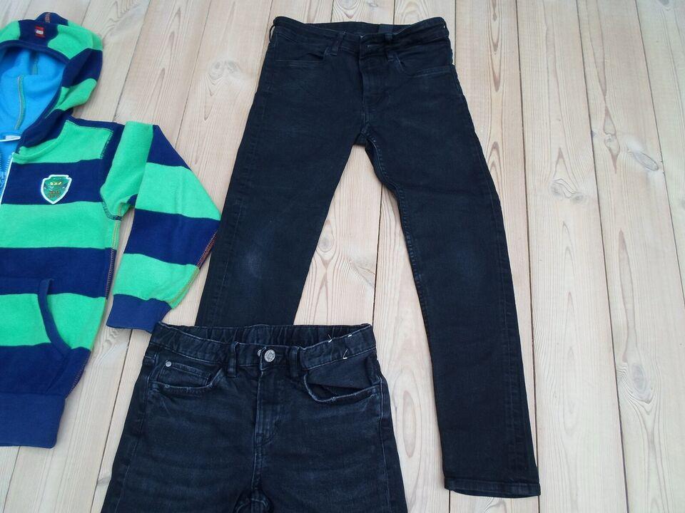 Blandet tøj, str 134 LEGO hættetrøje og 2 par bukser, FLOT