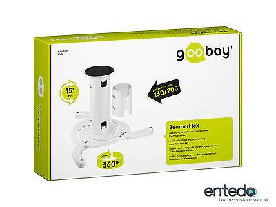 EntrüCkung Goobay Beamerflex Universal Beamer Projektor Decken Halter Weiß Neu 51896 Tv, Video & Audio Dvd, Blu-ray & Heimkino