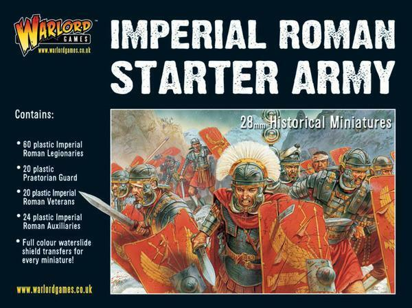 IMPERIAL ROMAN STARTER - HAIL CAESAR - WARLORD GAMES - 1ST CLASS