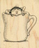 Warm Cup Hmv04 House Mouse Stampendous Rubber Stamp W/m Free Shipping