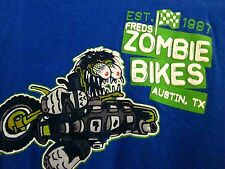 FRED's ZOMBIE BIKES youth med T shirt Austin Texas BMX Ed Big Daddy Roth size 8