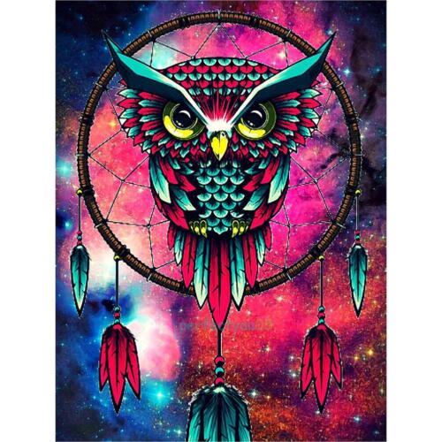 5D DIY Animal Owl Print Diamond Painting Embroidery Cross Stitch Home Wall Decor