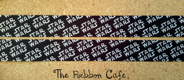Star Wars logo 22mmprinted grosgrain ribbon 2 metres