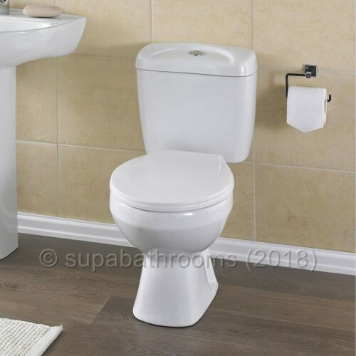 Melbourne Ceramic Close Coupled WC Toilet Pan Cistern /& Seat