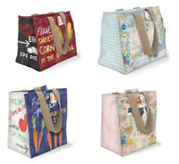 Punch Studio Farm To Table Waterproof Inner Coated Canvas Shopping Tote Bags