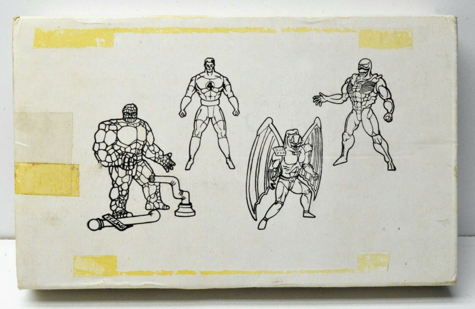 ToyBiz Marvel Super Heroes Mail Mail Mail Away Action Figure Set Thing Venom Annihilus 7d40f4