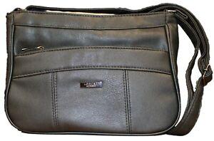 Reino Unido para Mujer Bolso Mensajero Bolso de varios bolsillos con cremallera compartimentos de doble Bolsa cruzada