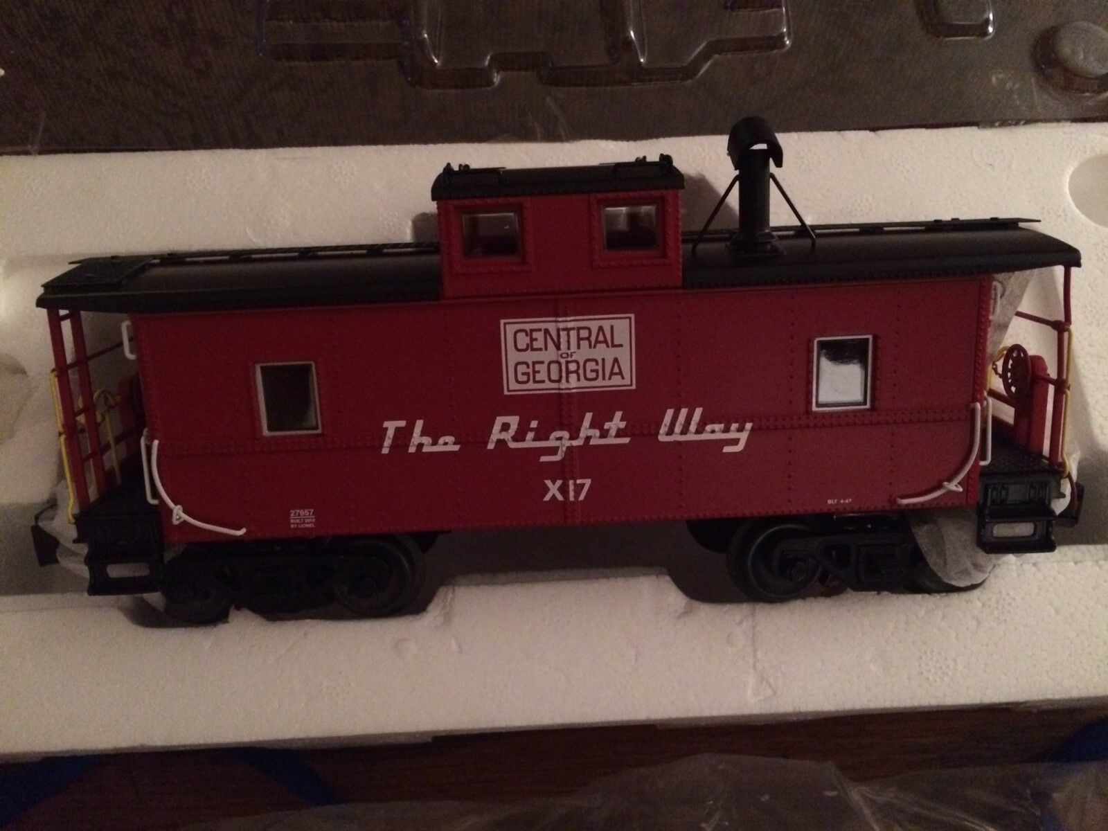 Lionel 27657 Central of Georgia NE Caboose New in Box