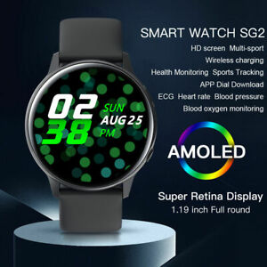Microwear SG2 Sports Smart Watch ECG PPG Heart Rate Wireless Charging Waterproof