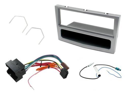 Opel Corsa D CD Radio einzel DIN Abdeckung Blende silber Paketset mgkit-vx05
