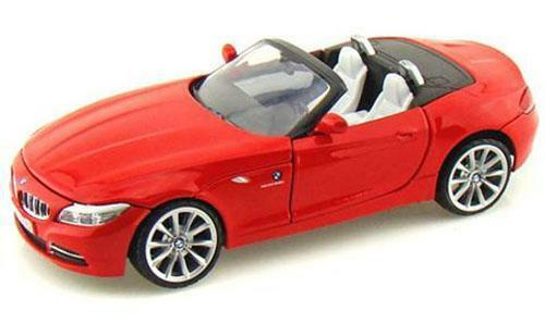 1:24 Diecast 2010 BMW Z4 Model Car In Red From Motormax (73349)