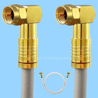 9m WINKEL F-Stecker Koaxial-kabel 135 db 5 fach geschimt Antennenkabel HDTV SAT