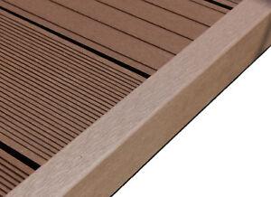 wpc terrasse abschlussleiste abdeckleiste l leiste chocolate braun 2200x62x37 mm ebay. Black Bedroom Furniture Sets. Home Design Ideas