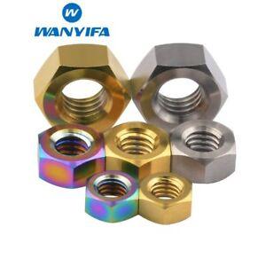 5pcs M5 x 0.8mm Pitch Titanium Ti Hex Flange Nut Fastener Aerospace Grade