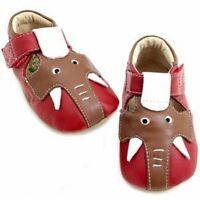 Livie & Luca Shoes Baby Elephant Red Brown 0-6m 1 2