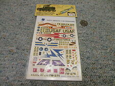 Esci decals 1/72 F-100 Supersabre 20th TFW 31st TFW 416 TFS  variants   N123