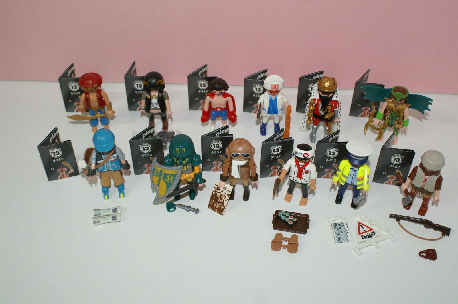 Playmobil 9332 Figures Boys Serie 13 alle 12 Figuren
