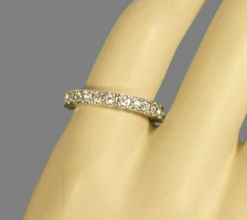 White Gold Eternity Wedding  Engagement Anniversary Crystals 18kgp