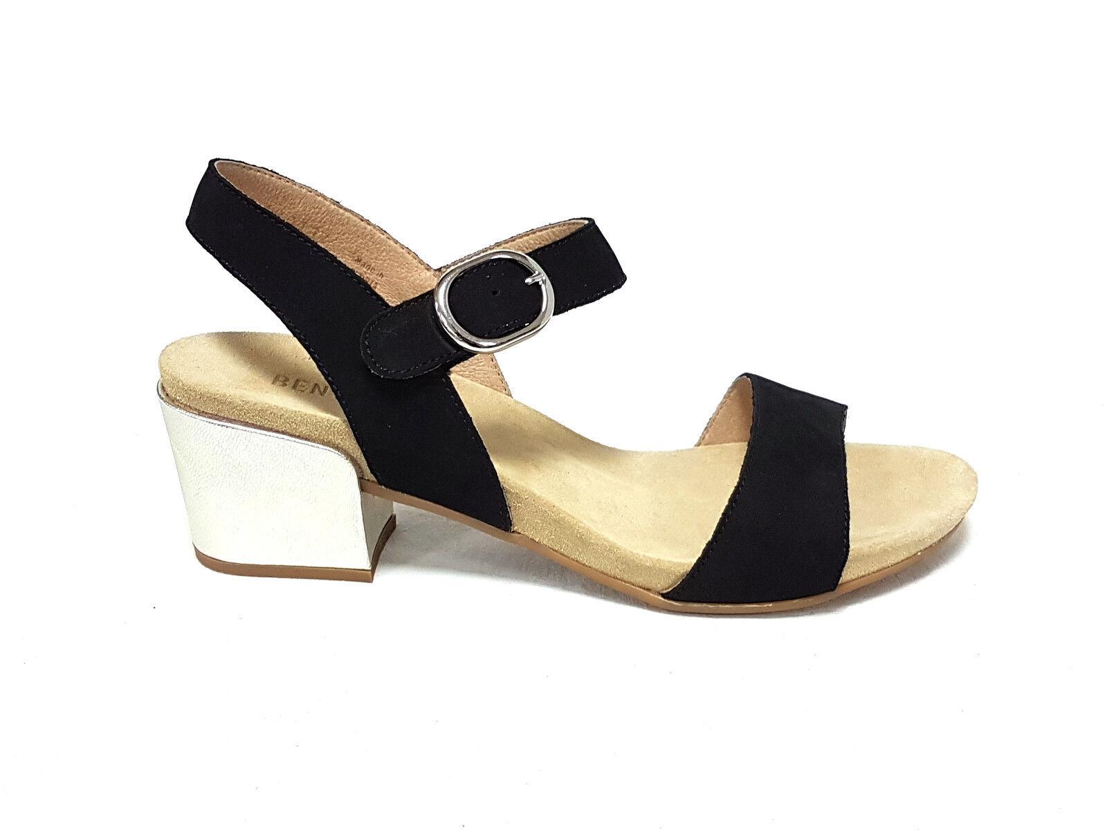 Benvado Benvado Benvado sandali donna Perla nero platino n°40(6,5uk) 1a5616