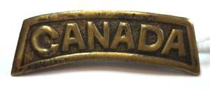 Shoulder title Canada CEF WW1