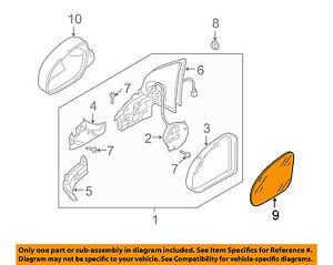 For Volkswagen CC Eos Passenger Right Side Mirror Glass OEM Genuine 3C8857522C