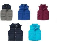 Gymboree Boys Puffer Warm Vests Blue, Maroon, Gray 12-24 4 5 6 7 8