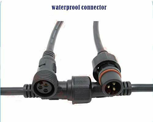 10 Pair Male//Female-HQ LED Connectors 3 Pin 3 Core Waterproof IP65