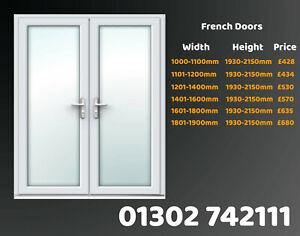White Upvc French Doors Back