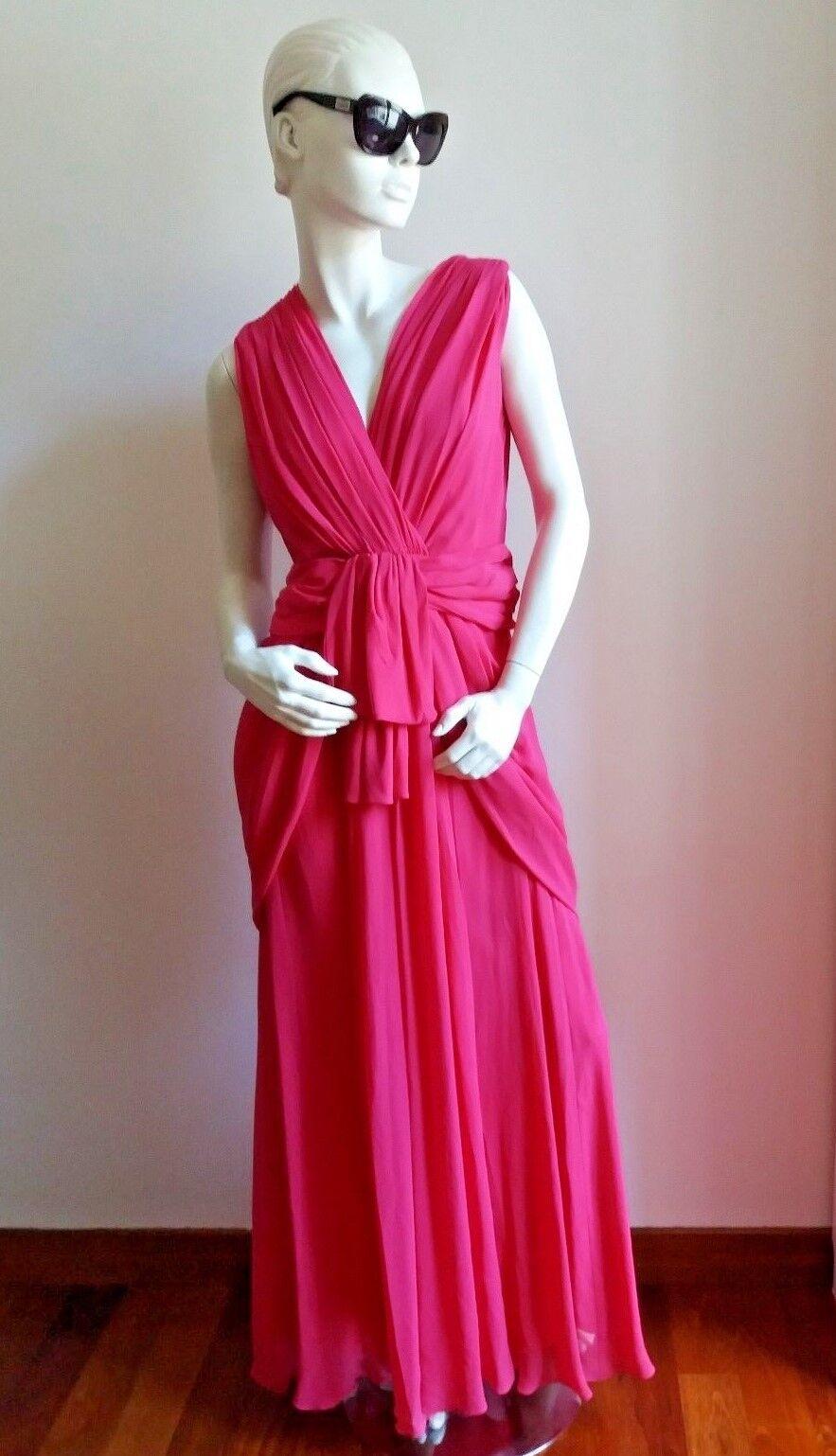 new MAX MARA Elegante Pink Silk Long dress 8 USA_ 10 GB_  42 I_ 38 D_ 40 F