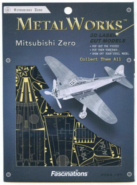Mitsubishi Zero Fighter Metal Earth 3D Model Kit FASCINATIONS