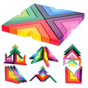 Amazing Details About 1Pc Wooden Rainbow Building Blocks Children Puzzle Toy Right Angle Structure Toy Uwap Interior Chair Design Uwaporg