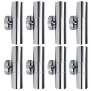 1-2-4-8pcs-Outdoor-Wall-Light-Stainless-Steel-Sconce-Waterproof-Up-Down-LED-Lamp