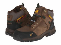 Men Caterpillar Safeway Mid Steel Toe Work Boot P90623 Cub 100% Original B