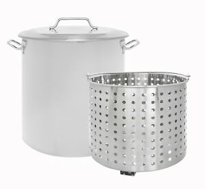 CONCORD-Stainless-Steel-Stock-Pot-w-Steamer-Basket-Cookware-Boiling-Steaming