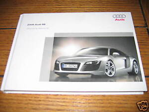 2009 audi r8 owners manual owner s r 8 new v8 420hp ebay rh ebay com r8 owners manual r8 owners manual