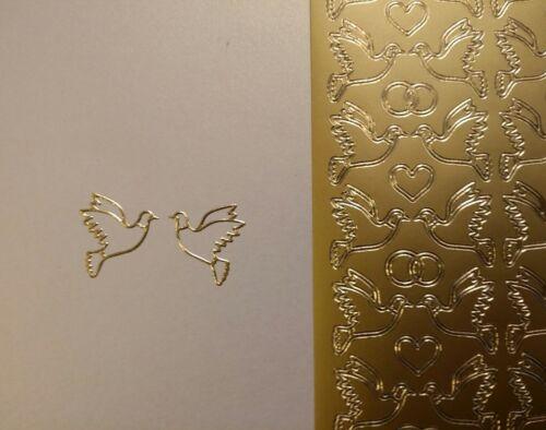 130 Tauben Stickerbogen Konfirmation Gold Nr Hochzeit Kommunion