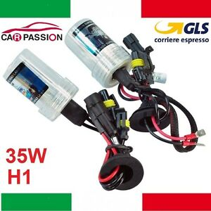 Coppia-lampade-bulbi-kit-XENON-Renault-Clio-IV-H1-35w-4300k-lampadina-HID-farii