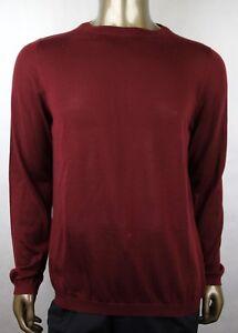 new concept fa212 37c1a Dettagli su Gucci Uomo Rosso Vino Cashmere W/ Gg Stemma Maglione Pullover  369065 6215