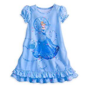 Image is loading Disney-Store-Princess-Cinderella-Short-Sleeve-Nightgown- Pajama- 6adfad226